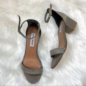 Steve Madden Irene Grey Suede Sandal 7.5 Like New!